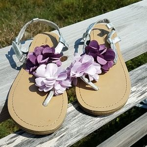 Floral strappy sandals